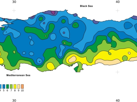 Turkey Climate Map