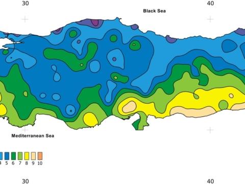 Turkey Climate Map