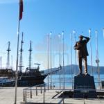 Marmaris Center the statue of Ataturk