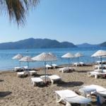 Marmaris empty beach